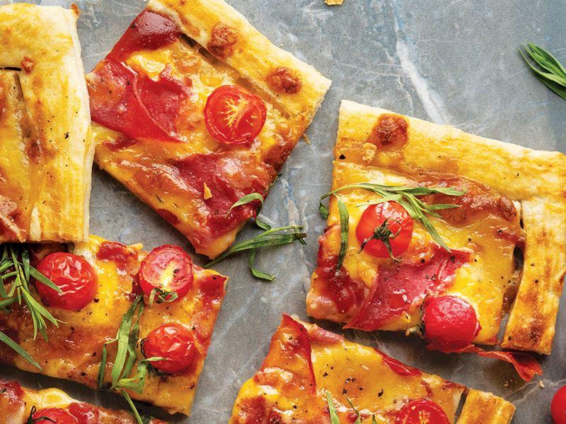 Jambonlu ve domatesli tart