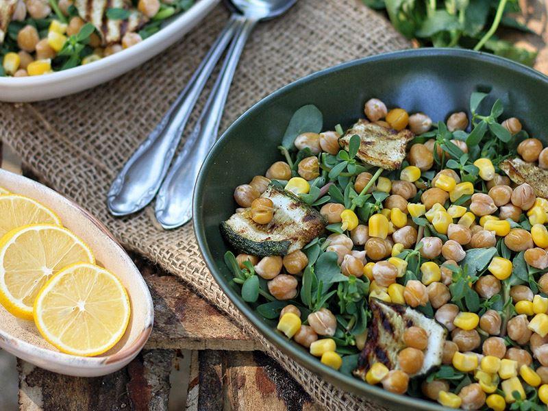Kabaklı pratik salata