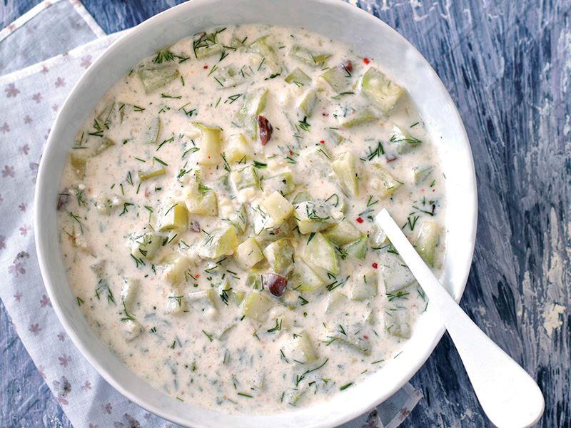 Kabaklı soğuk çorba