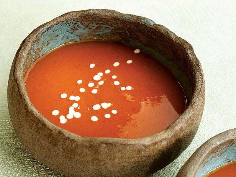 Kapyalı tatlı patates çorbası