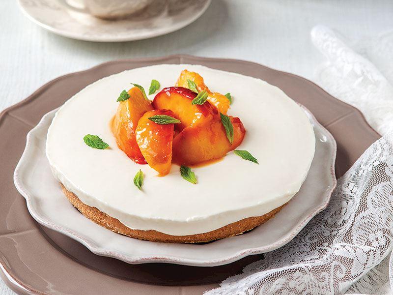 Karamel Şeftalili Cheesecake