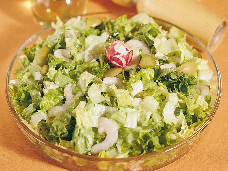 Karidesli Yeşil Salata