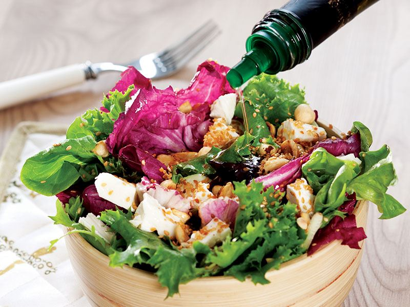 Kavrulmuş Susamlı, Peynirli Salata