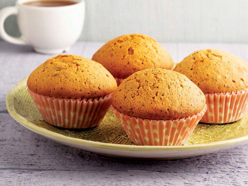 Keten tohumlu haşhaşlı muffin kek