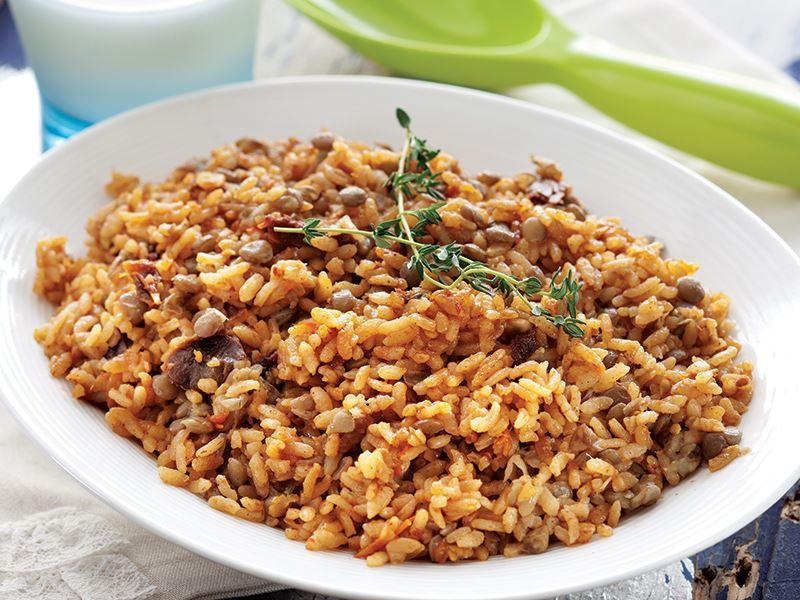 Kimyonlu Ve Domatesli Pirinç Pilavı