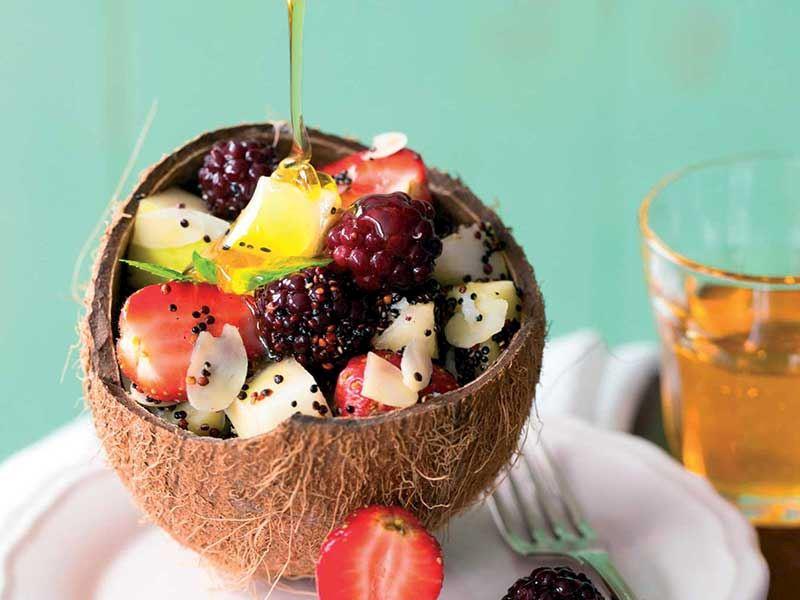 Kinoalı Ballı Meyve Salatası