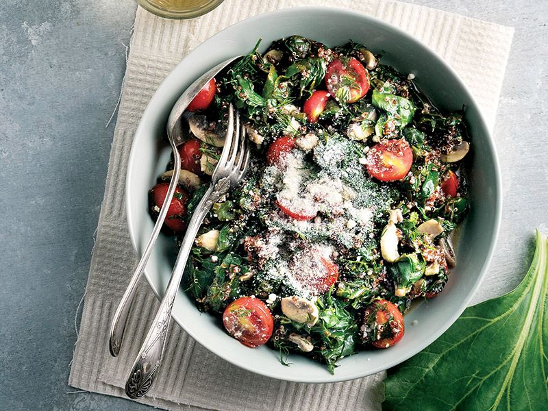 Kinoalı Ilık Pazı Salatası
