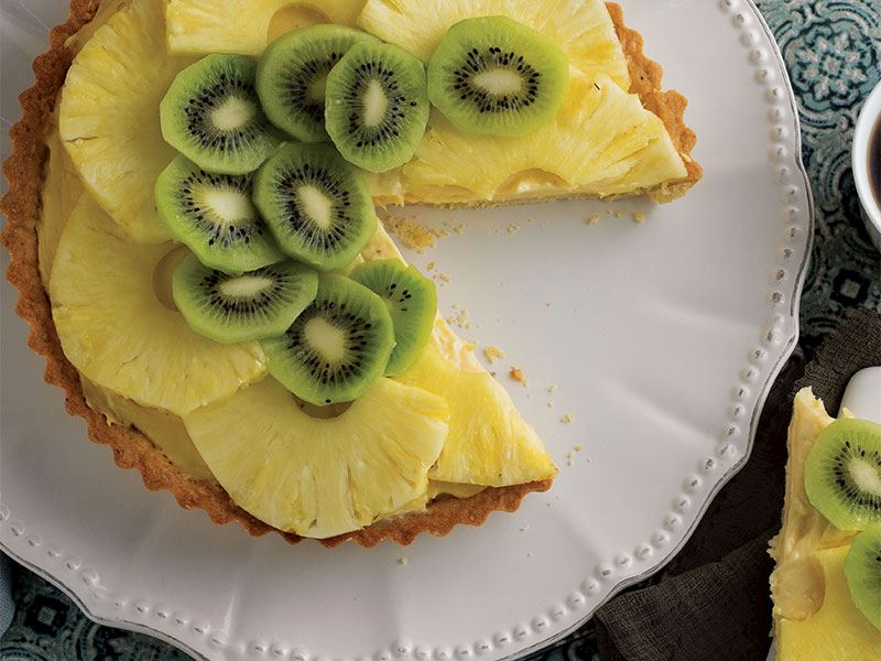 Kivili ve ananaslı tart