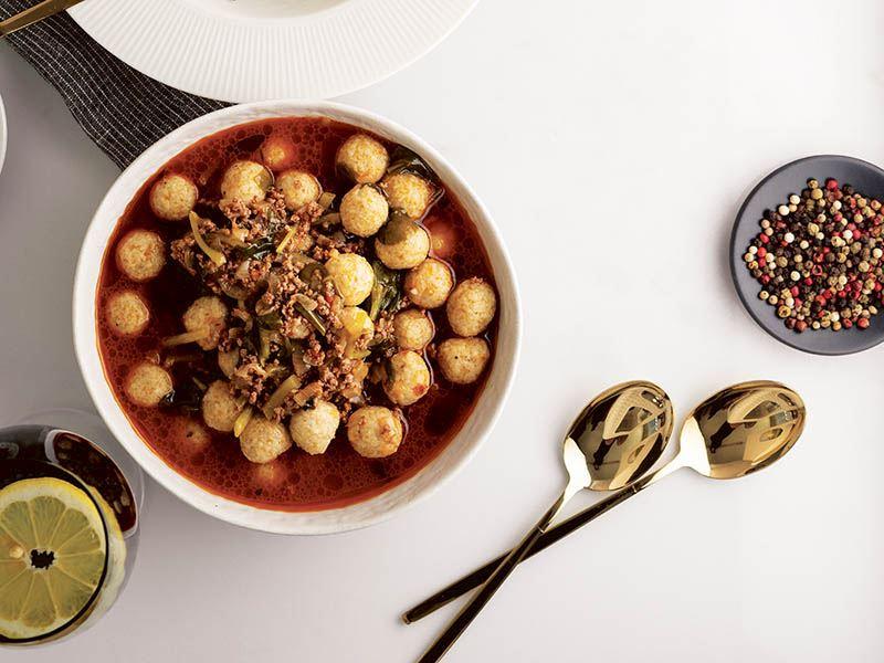 Köfteli semizotu çorbası