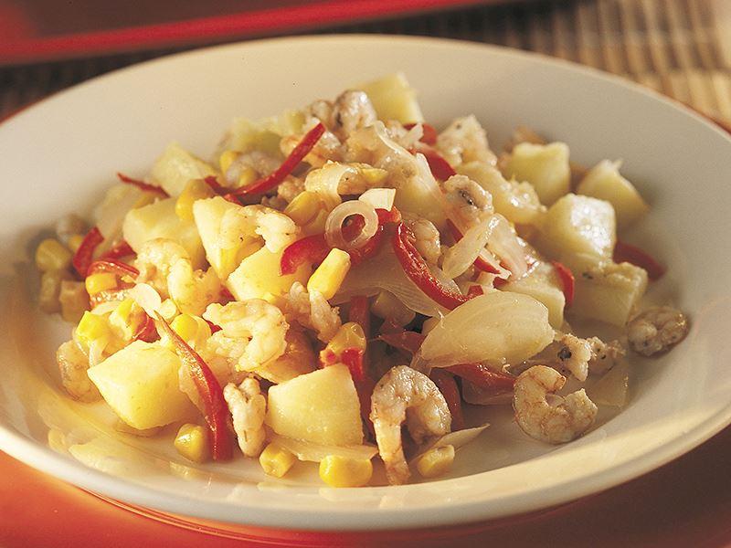 Körili Ve Elmalı Karides Salatası