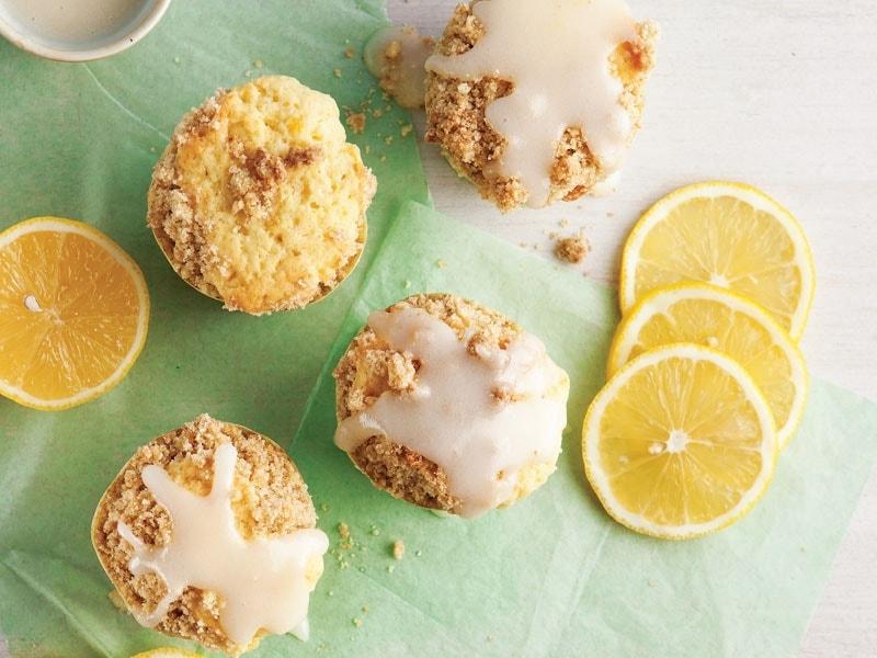 Limonlu crumble muffin