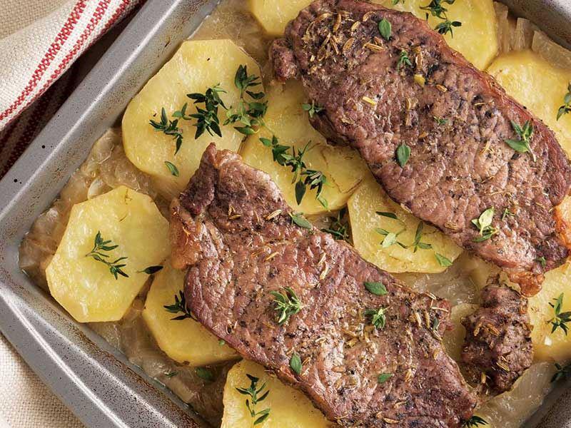 Limonlu patates ve rezeneli dana