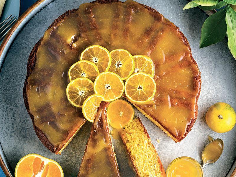 Mandalinalı süzme kek