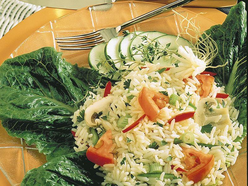 Mantarlı Pirinç Salatası