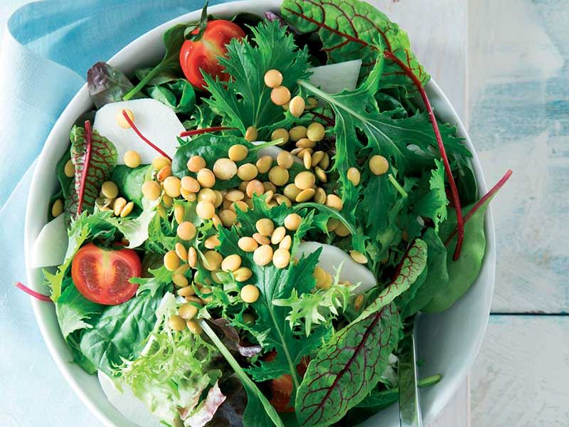 Mercimekli Yeşil Salata