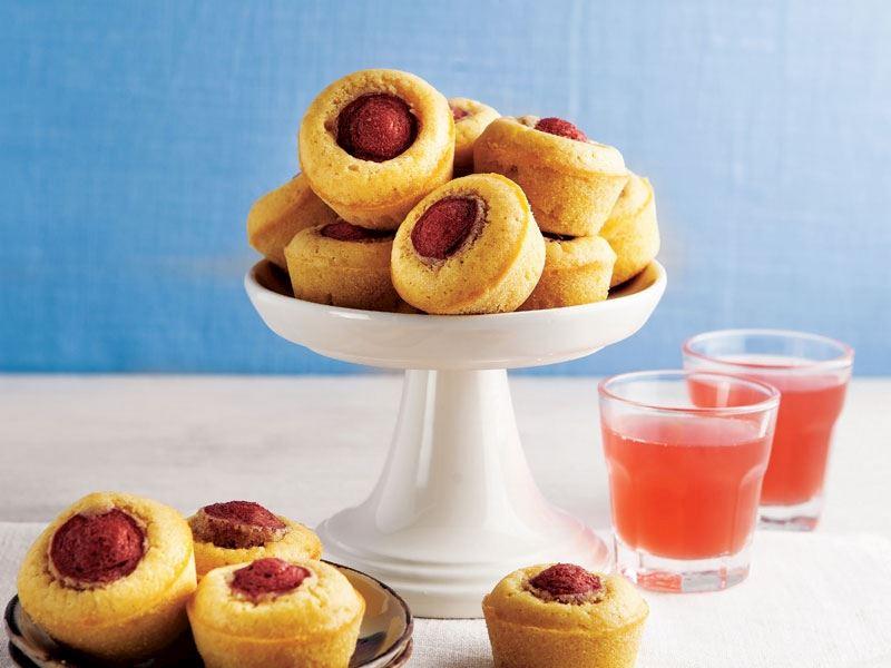 Mısır unlu ve sosisli mini muffin