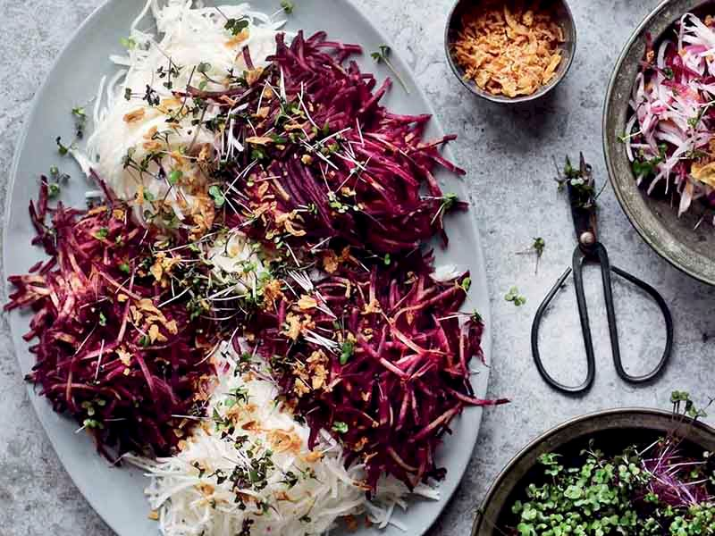 Mor havuç salatası
