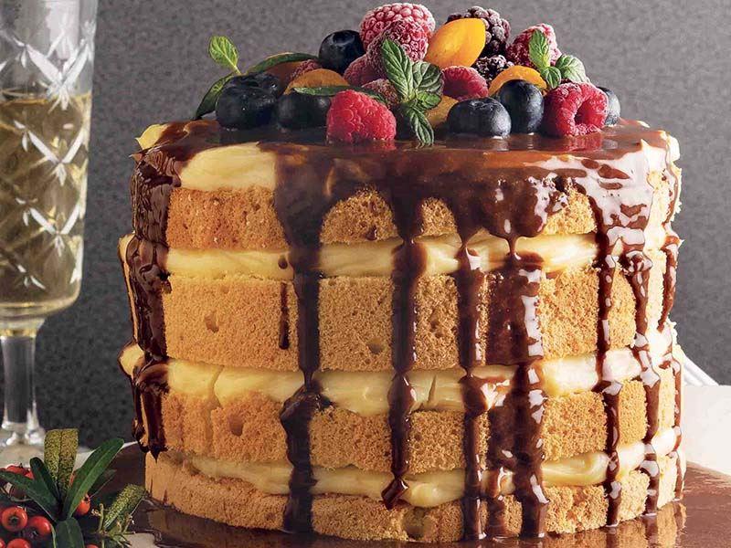 Orman meyveli naked kek