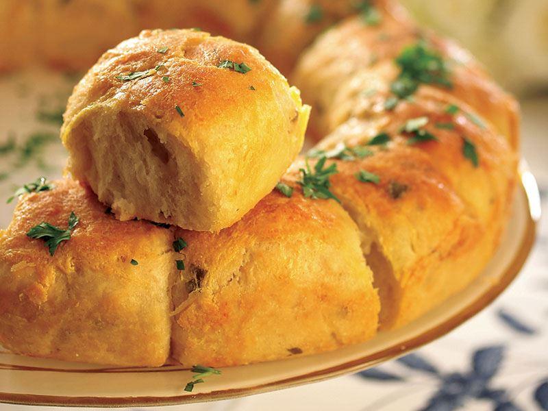 Peynirli Yuvarlak Ekmekler
