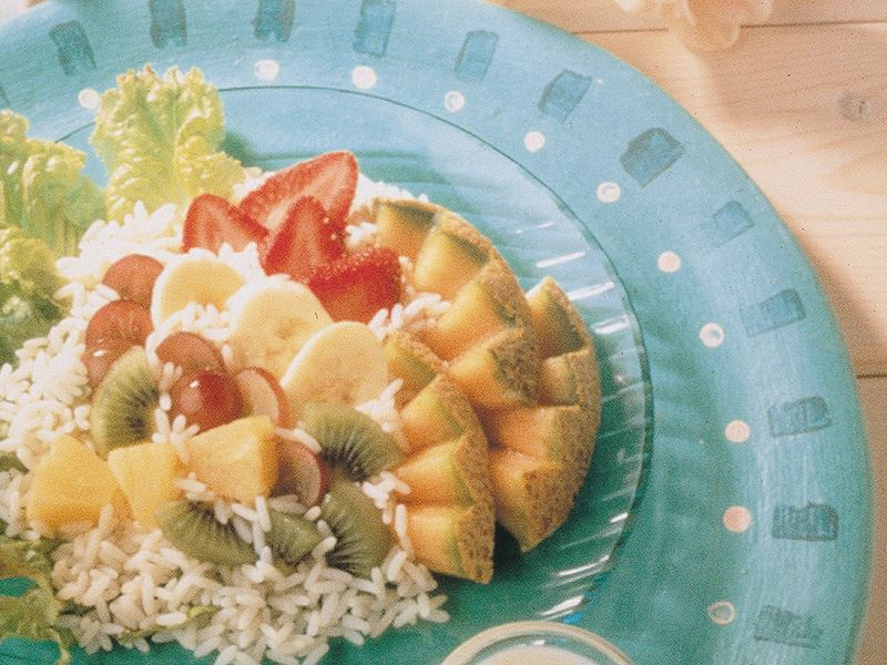 Pirinçli Meyve Salatası