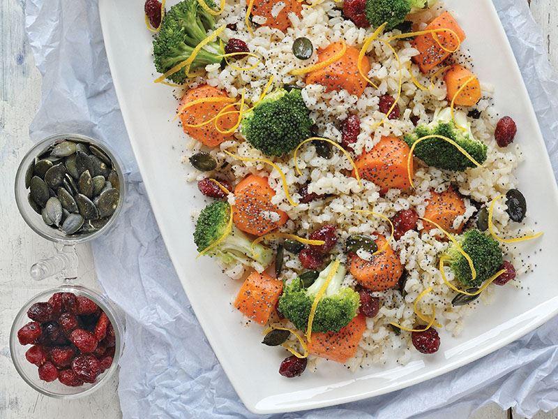 Pirinçli Sebze Salatası