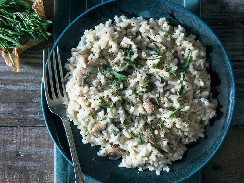 Porçini mantarlı risotto