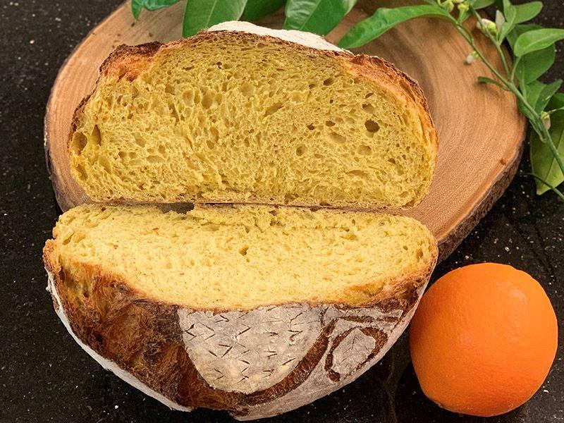 Portakallı ekşi mayalı ekmek