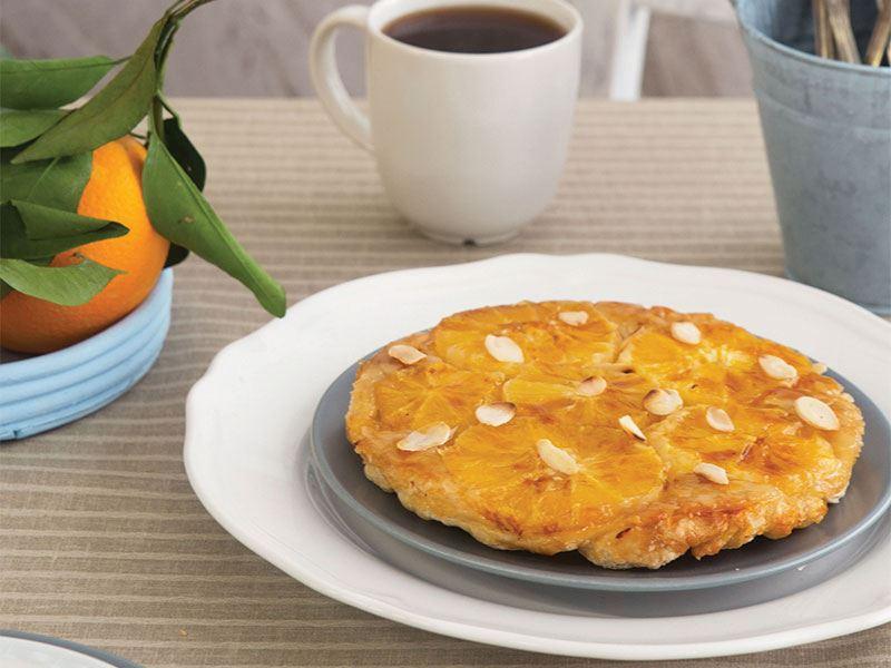 Portakallı karamelize tart tatine