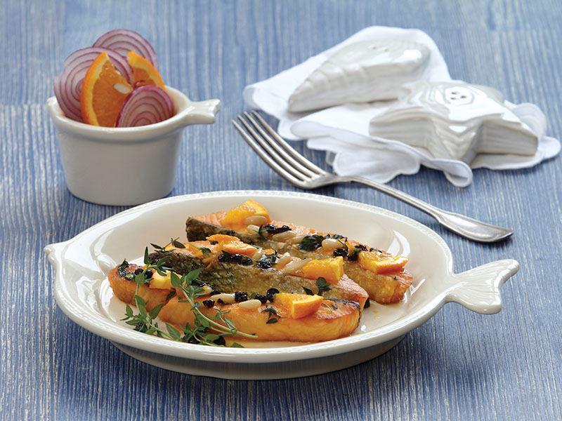 Portakallı Somon Balığı