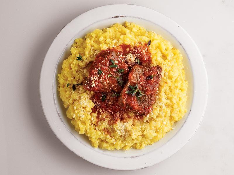 Safranlı Risotto Milanese domates soslu dana bonfile ile