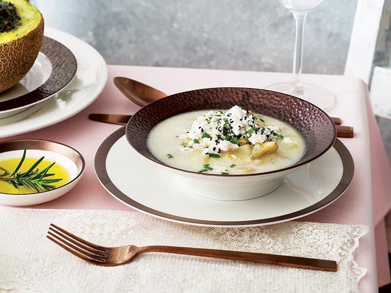 Sarı mercimekli enginar çorbası