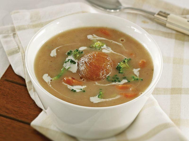 Sebzeli Kestane Çorbası