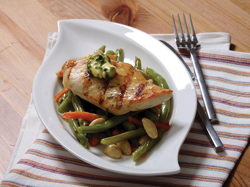 Sebzeli Ve Tereyağlı Tavuk Eti