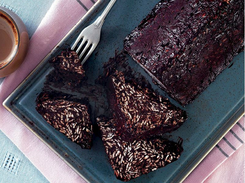Şekersiz mozaik pasta