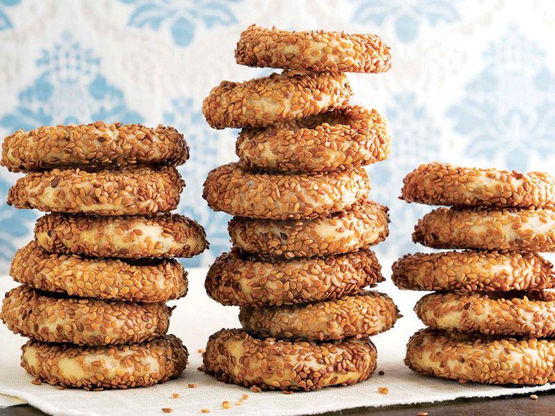 Susamlı ve pekmezli kurabiye