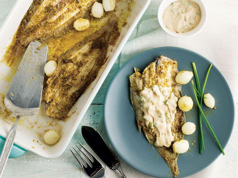 Tahin soslu dil balığı