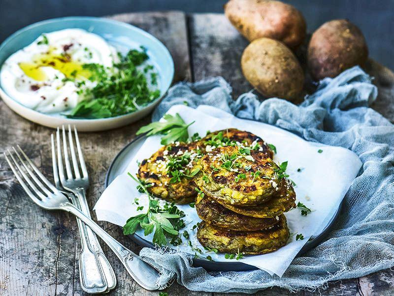 Tatlı patatesli pancake