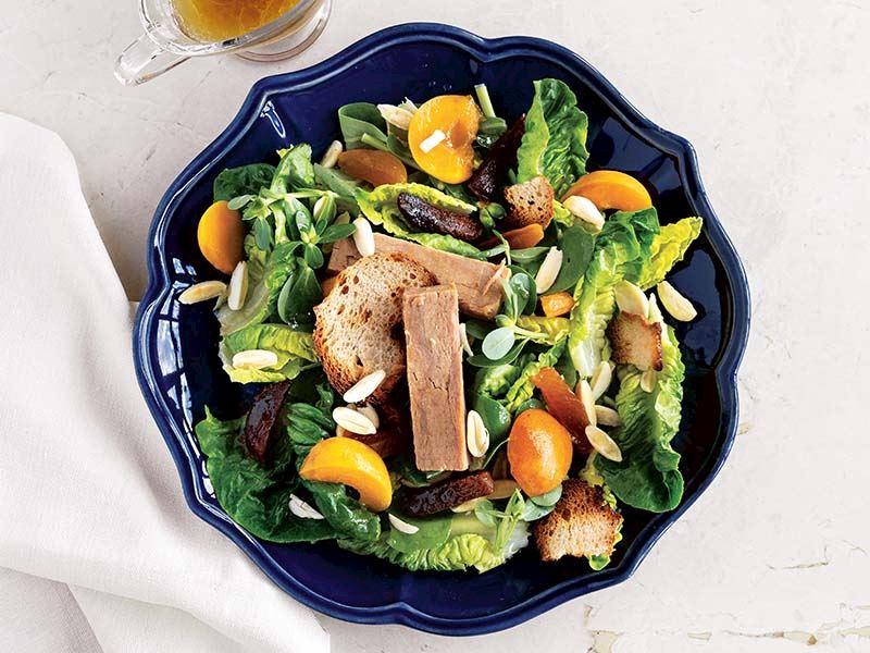 Tonlu & kayısılı salata