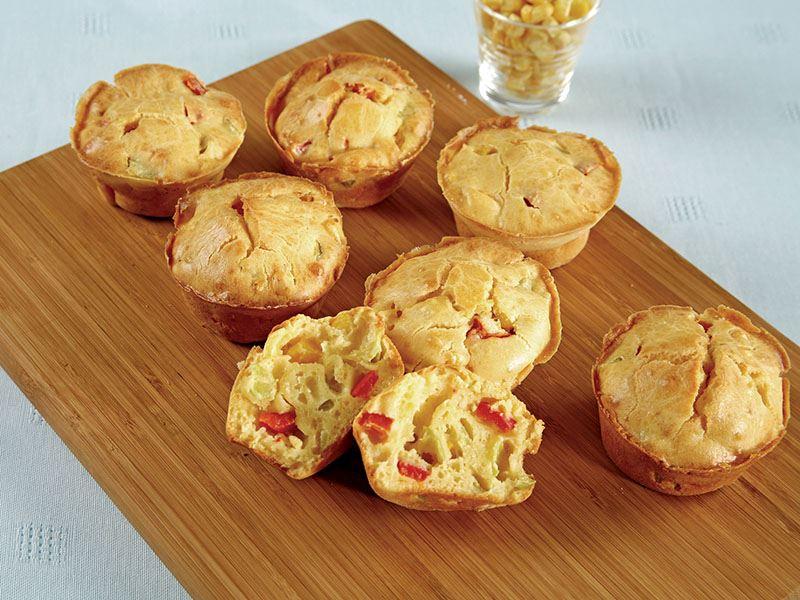 Üç Biberli Mısırlı Muffin