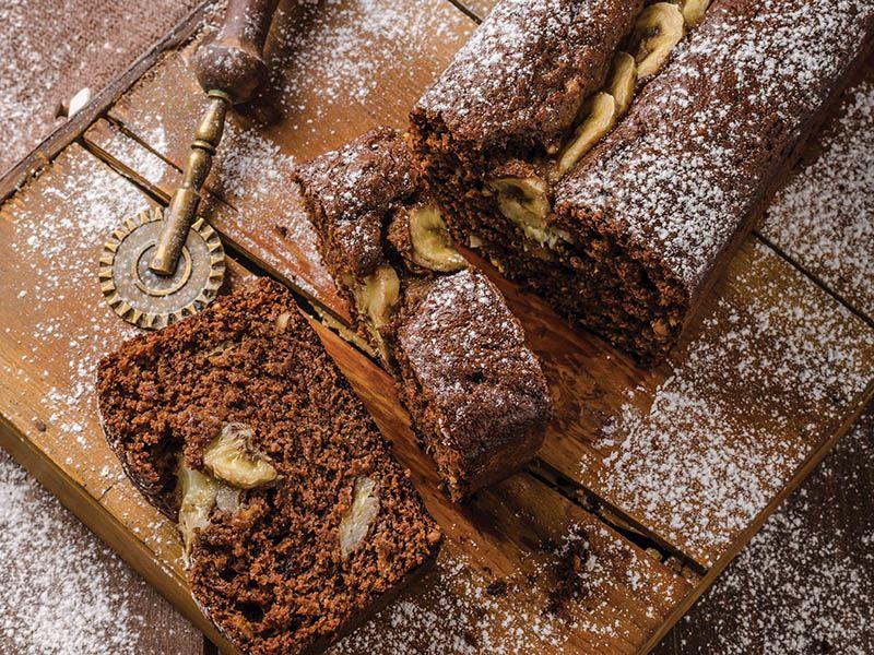 Yağsız, unsuz, rafine şekersiz kek