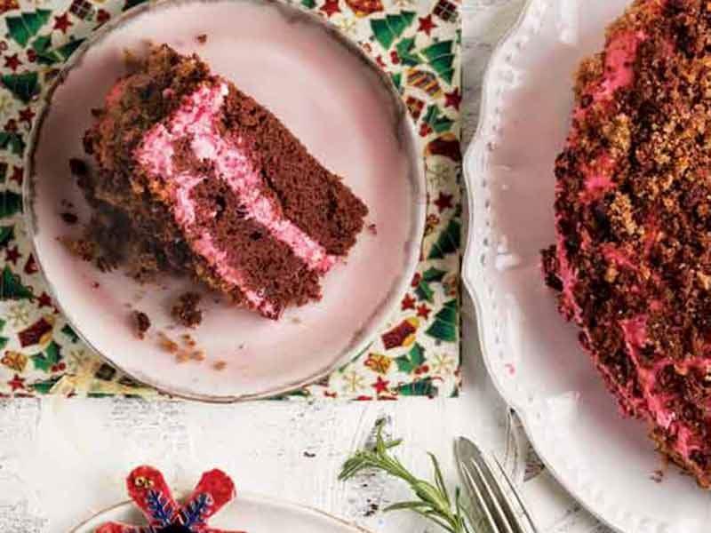 Yılbaşı kadife pasta