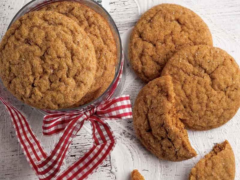 Zencefilli yılbaşı çatlak kurabiye