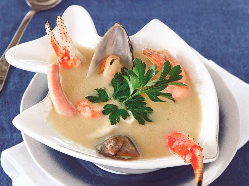 Deniz mahsulleri çorbası